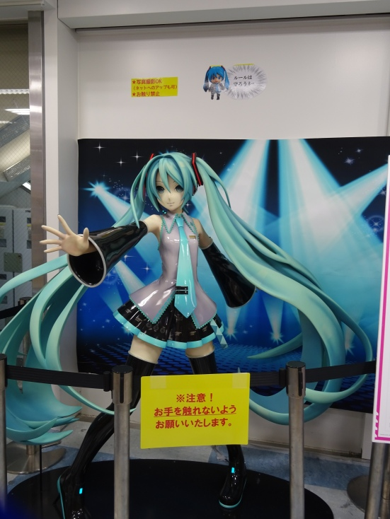 We also found an obligatory Vocaloid statue