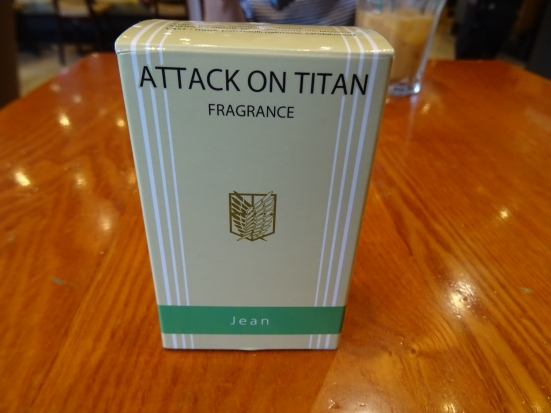 I also made my stupidest purchase in Animate - eau d'Attack on Titan (Jean edition). It's only just good enough to be room freshener though...