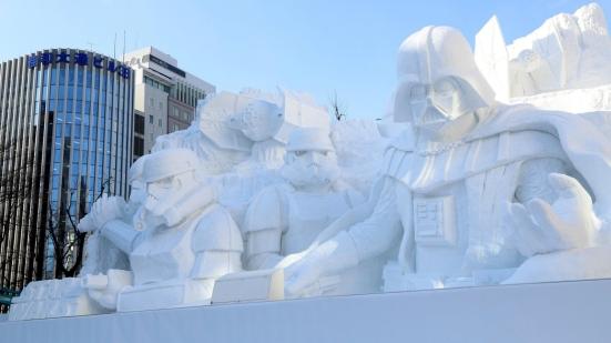 Star Wars snow sculpture (photo: IB Times)
