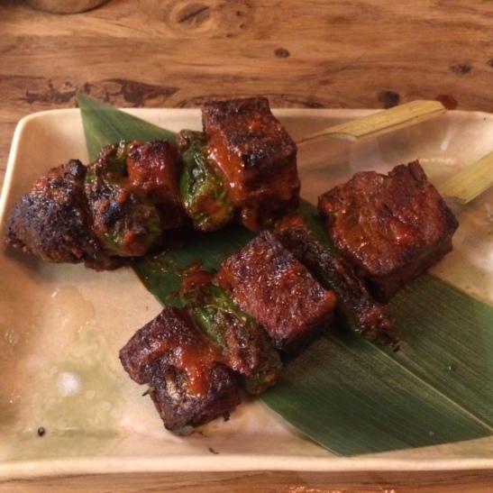 Ox cheek kushiyaki